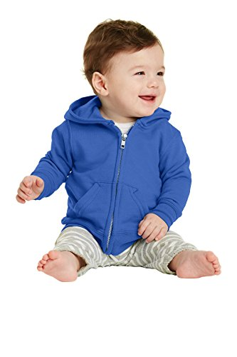 Precious Cargo Infant Full-Zip Hooded Sweatshirt. CAR78IZH Royal 12M