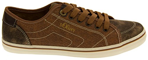 S.oliver Mujeres 23614-27 Marrón (coñac) Casual Lace Up Summer Sneakers Us 6