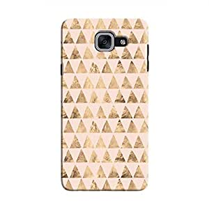 Cover It Up - Brown Pink Triangle Tile Galaxy J7 Max Hard Case