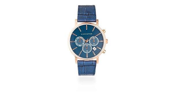 Reloj Luxenter Hombre SP2008W45000 Togo Azul Multifunción: Amazon.es: Relojes