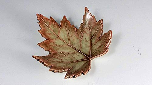 Pottery Leaf Dish - Pottery Leaf Dish, Handmade Organic Ceramic Maple Leaf, Small Dish, Pottery Gift, Handmade Leaves, Leaf Dish, Ring Dish (Sold Separately)