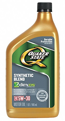 (Synthetic Blend Engine Oil, 1 qt. Bottle, SAE Grade: 5W-30, Amber/Brown- Pack of 5)