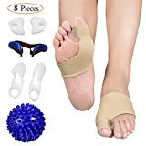 Product review for Bunion Corrector and Bunion Care Kit for Tailors Bunion, Hallux Valgus, Big Toe Joint, Hammer Toe, Toe Separators Spacers Straighteners Splint with Foot Massage Ball