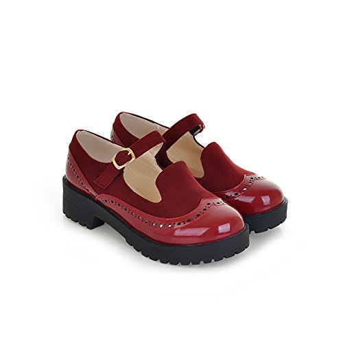 Donna 35 red Plateau A amp;n Rosso Con AcnqcZtRY