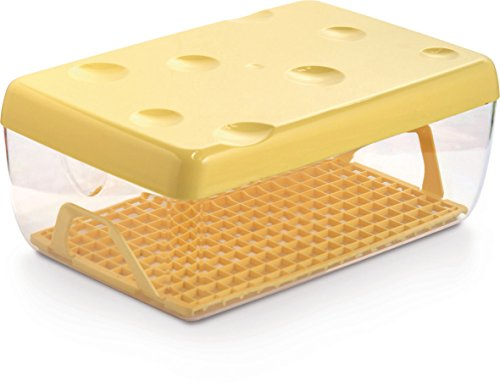 Snips Cheese Saver With Bottom Drain Grid, 12 cup, (Cheddar Cheese Storage)