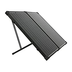 Humless Go 130 Watt Solar Panel, White/Black, SOLPAN130_FOLD