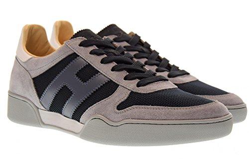 Hogan Scarpe Uomo Sneakers Basse Hxm3570ac40ipj931g H357 Grigio / Blu