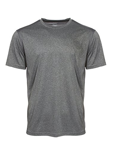 Spalding Mens Training Power Peached Double-Dyed Heater SS Crew HTHR GREY M