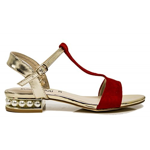 Romeo Strap Platino with Gigli Rosso 200 Shoes Women's rrwqX