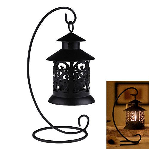Money coming shop Iron Moroccan Style Candlestick Candleholder Candle Stand Light Holder Lantern white and Black Free
