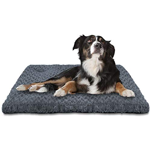 INVENHO Dog Bed Kennel Crate pad Comfortable Soft Anti Slip Washable for Large Medium Small Dogs Blue