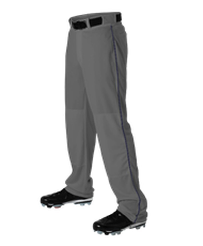 Alleson Athletic PANTS メンズ B071KF6XRX 3X|Charcoal, Navy Charcoal, Navy 3X