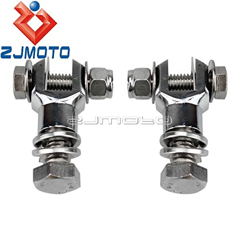Frames & Fittings Motorcycle Footpeg Mounting Clevis Chrome Footpeg Mount Foot Peg Clevis Mounts Bolt Nut Screw Kit for Harley Bobber Chopper