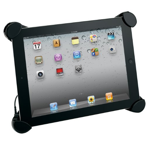 Jensen SMPS-550 Portable Stereo Speaker Stand for Apple® iPad®, iPad® 2 and 3rd Generation Black