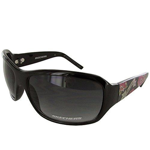 Skechers Women's 4024 Floral Fashion Sunglasses - Medium - Purple - Sunglasses Skechers