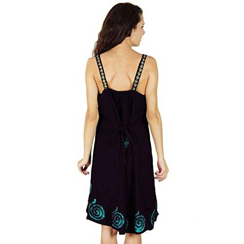 Sundress Sleeveless Casual Summer Dress Print Beach Blue New Batik Rayon Women PxHzUqwxI
