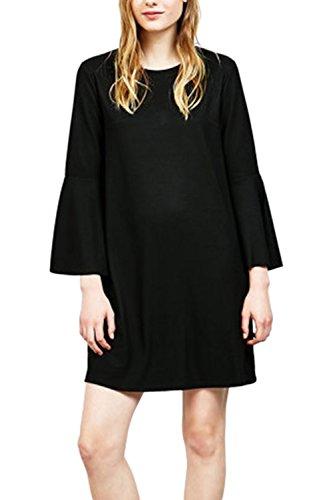Vestido de elegante Simple cambio de oscilación de las mujeres Black