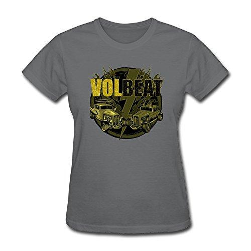 Universal Mascot T-shirt - Zelura Women's Volbeat Tour Danish Metal Band T-shirts DeepHeather XXL