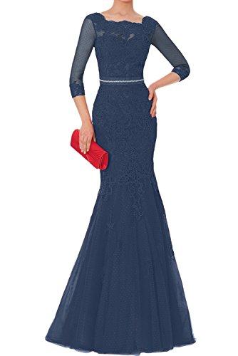 Ivydressing Lang Abendkleider Brautmutterkleider 2018 Spitze Neu Elegant Promkleider Langarm Damen Navy Tuell r8SrZ4