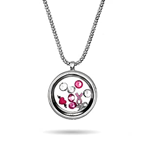 Amazon breast cancer awareness floating charm locket amazon breast cancer awareness floating charm locket clearance final sale jewelry aloadofball Image collections