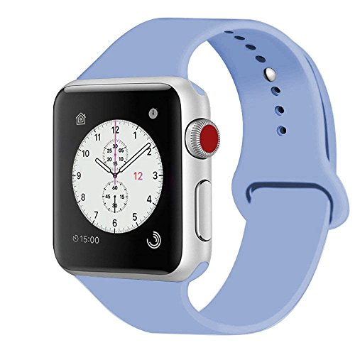 iDon Smart Watch Sport Band, Soft Silicone Replacement Sports Band  compatible for Apple Watch Band ca2822cf81