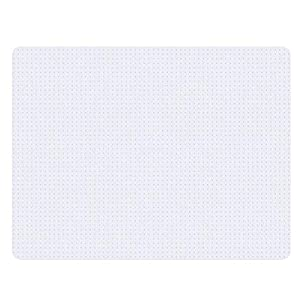 "Yescom Office Desk Chair Mat for Carpets Low Pile Rectangle PVC Floor Protector Studded Back 2.5mm with Lip 60"" x 46"""