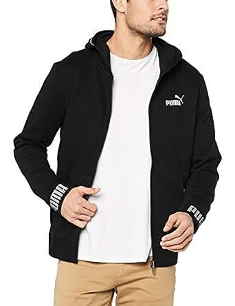 PUMA Men's Amplified Hooded Jacket FL, Cotton Black, L