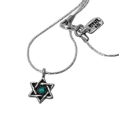 8c386b3e4 Female Shablool Silver Pendant 925 Sterling Silver Opal Cabochon Blue: Shablool  Jewelry Design: Amazon.co.uk: Jewellery