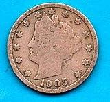 1905 LIBERTY HEAD NICKEL 5 Cent United S