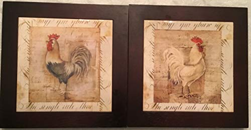 Retro Rooster Trivets/Wall Hanging or Counter Top Hot Plates
