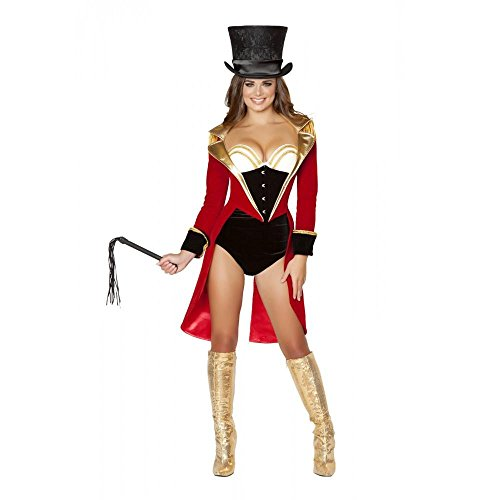 Roma Costume Women's 5 piece Naughty Ringleader, Black/Red, Large -