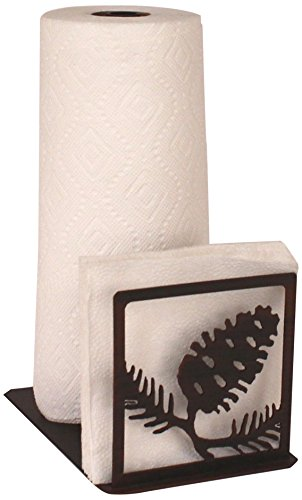 Iron Pine Cone Short Paper Towel/Napkin Holder (Napkin Holder Pinecone)