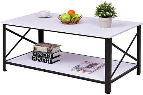 Amazon.com: Mesa de café de madera acentuada de ...