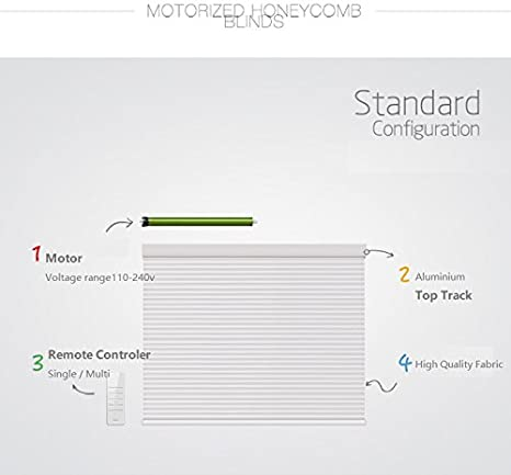 Amazon Com Motorized Electric Cellular Shades Honeycomb Blinds Pleated Blinds Top Down Bottom Up Websize Priced 1pc 39 W X 39 L Power Range 110v 240v Contact Us For Customize Size Kitchen Dining
