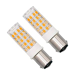 Dimmable BA15D LED Light Bulb 4W AC 220V-240V SBC Small Double Bayonet Cap 40W Halogen Warm White 3000K Great for The…