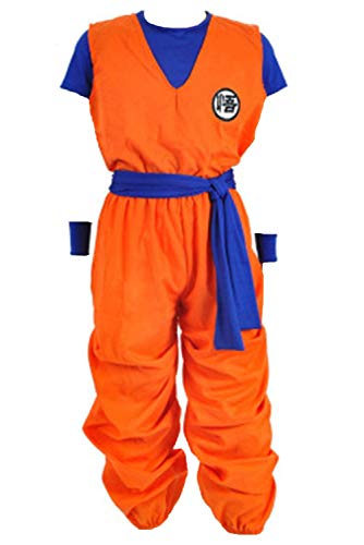 LoveCos Son Goku Costume Adult Dragon Ball Z Halloween Anime Cosplay Costumes for Men Orange