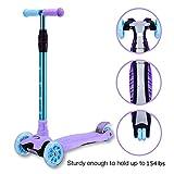 WonderView Kick Scooter Kids 3 Wheel Scooter,4 Height Adjustable PU...