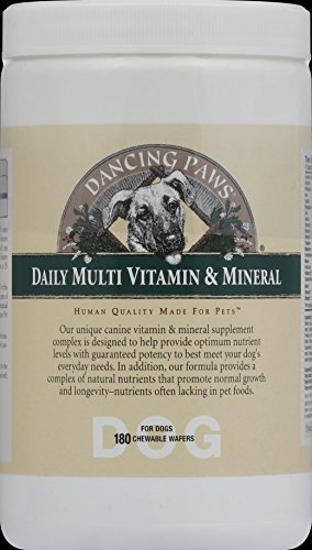 Dancing Paws Canine Multi Vit&Mineral 180 Waf