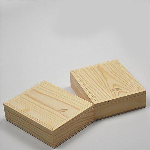 HZZymj-Caja de madera simple de la caja de embalaje del reloj del tirón-estilo pequeña caja de madera de la caja de madera de la tapa deslizante de la caja del tirón: Amazon.es: