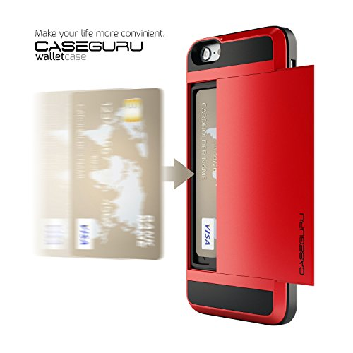 Caseguru® Wallet Case For iPhone 6 [Shockproof] Credit Card/ID Security Slot Storage...