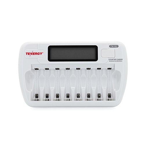 Combo: Tenergy TN162 8-Bay Smart LCD AA/AAA NiMH/NiCd Charger + 16 AAA Premium NiMH Rechargeable Batteries by Tenergy (Image #1)