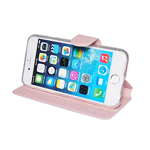 """Tasche für iPhone 6, 6s ( 4,7"""" Zoll ) Vintage Rosen mit Glitzersteine Schutz Handytasche Flip Handy Case Book Wallet Etui - Kunstleder"""