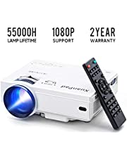 XuanPad Mini Proyector Multimedia Vídeo Proyector LCD, 55000 Horas Proyector de Cine en casa con Sistema de Cine en casa
