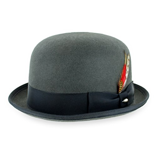 7d3714b6e Belfry Deuce 100% Wool Felt Stingy Brim Men's Derby Bowler - Import It All