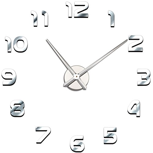 Mirror clock sticker