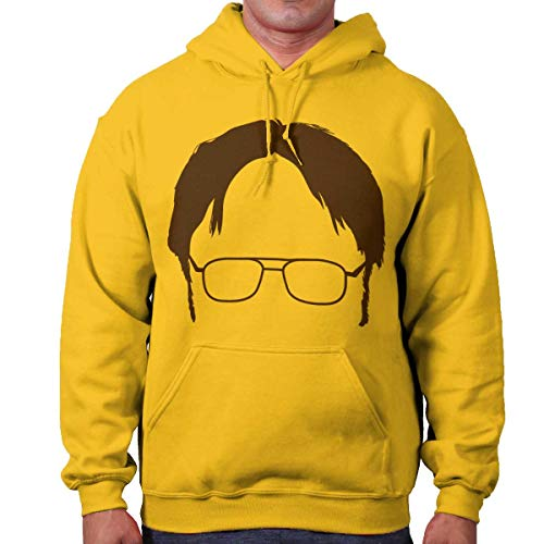 Character Nerd Silhouette Funny TV Show Hoodie (Mens Silhouette Hoodie)