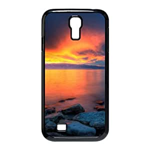 3D Okaycosama Funny Samsung Galaxy S4 Case Sunset 89 Cute for Girls, Cell Phone Case for Samsung Galaxy S4, [Black]