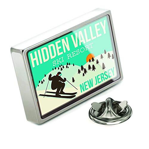NEONBLOND Lapel Pin Hidden Valley Ski Resort - New Jersey Ski Resort