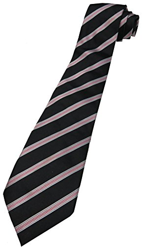 Plaque Golf Emblem (Donald Trump Neck Tie Pink, Black and Silver with Gold Plaque Emblem)
