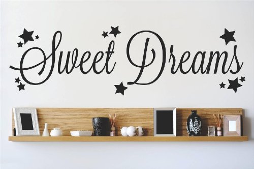 Decal – Vinyl Wall Sticker : Sweet Dreams Quote Home Living Room Bedroom Decor DISCOUNTED SALE ITEM - 22 Colors Available Size: 6 Inches X 30 Inches